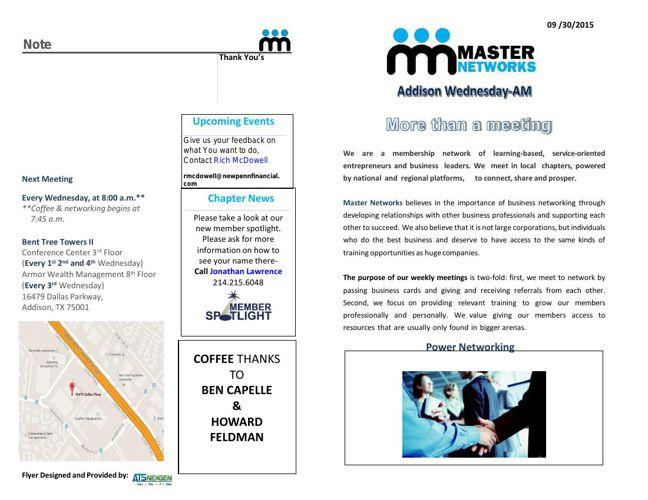 Master Network Membership Folder 9/30/2015