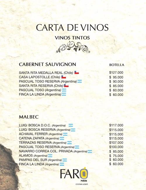 CARTA DE VINOS web