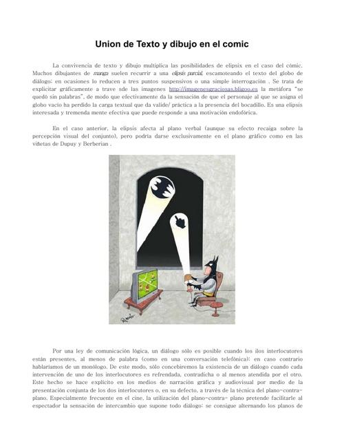 El comic y las imagenes