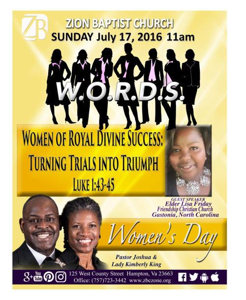 3rd SUNDAY BULLETIN - Zion Baptist Church