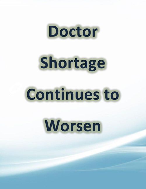 Doctor Shortage Continues to Worsen