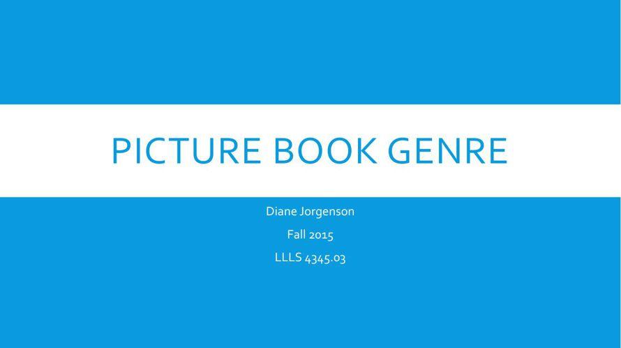 The Picture Book Genre filpbook