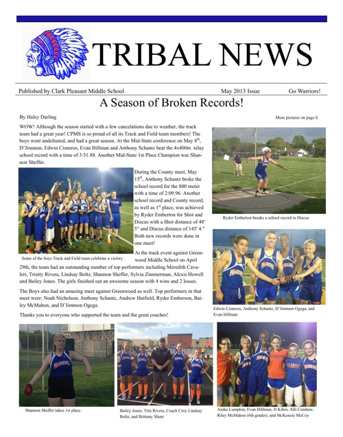 Tribal News 2013 May Issue