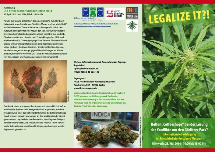 """""""Legalize It?!"""" Internationale Fachtagung"""