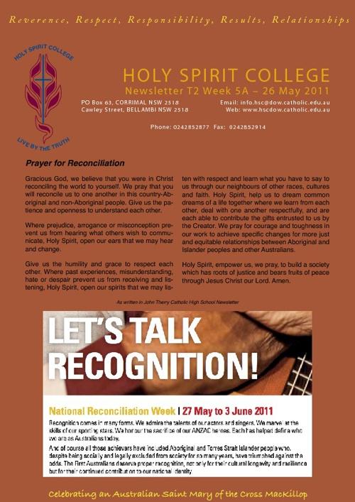 HSC Newsletter T2W5 2011