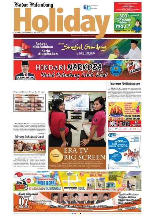 Radar Palembang Edisi 02-03-2013 Koran 1
