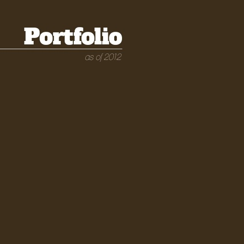 Portfolio 2012