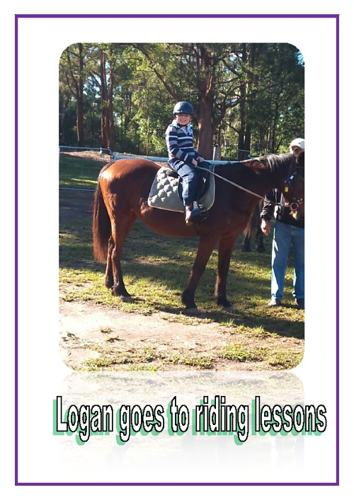 Logan goes horseriding