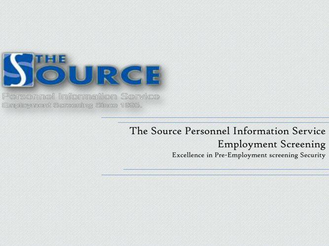 Pre Employment Check