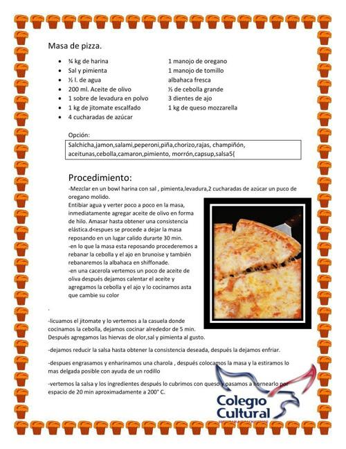 recetario irving  gutierrez meza 2° B