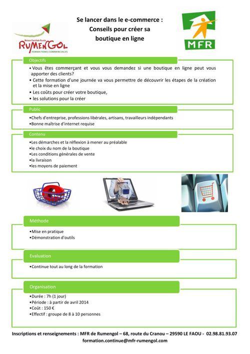 MFR Rumengol Catalogue de la formation continue