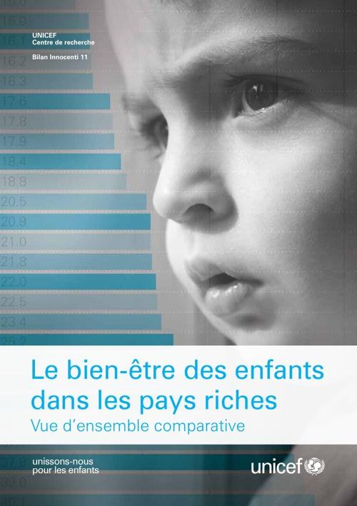 Le bien-être des enfants dans les pays riches