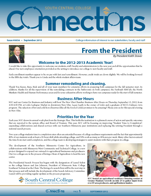 September 2012 Connections Newsletter