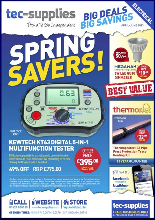 Tec Supplies Trade Offer`s April -