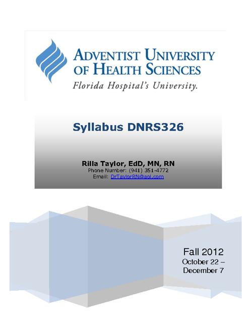 DNRS326_Syllabus