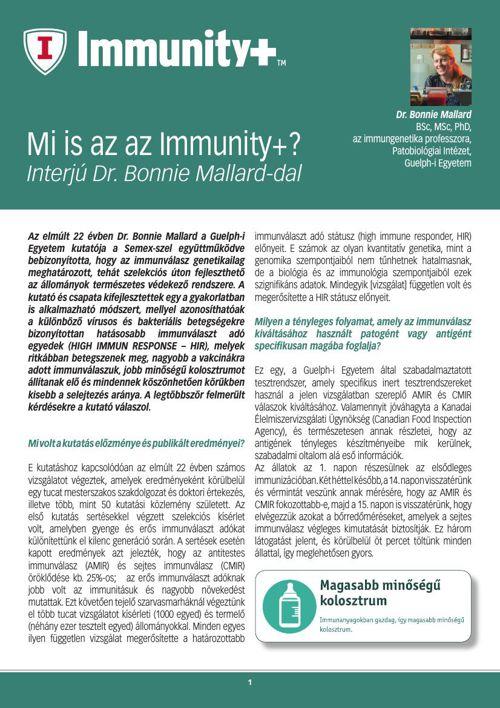 Mi is az az Immunity+