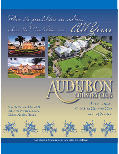 Audubon Country Club of Naples Brochure