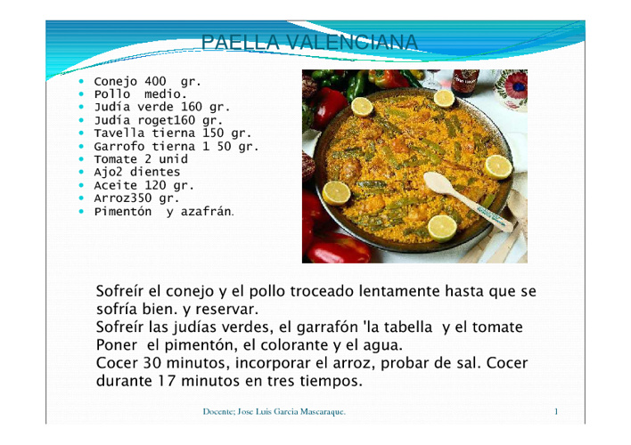 Arroces valencianos