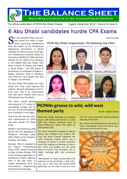 PICPA Abu Dhabi The Balance Sheet Vol XI Issue 2