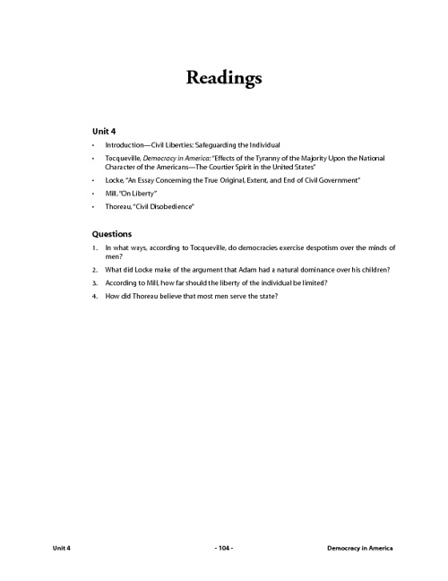 Unit 8- Reading 1: Civil Liberties: Safeguarding the Individual