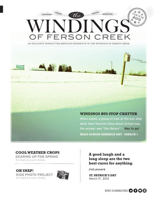 The Windings Newsletter | Feb.March 2013