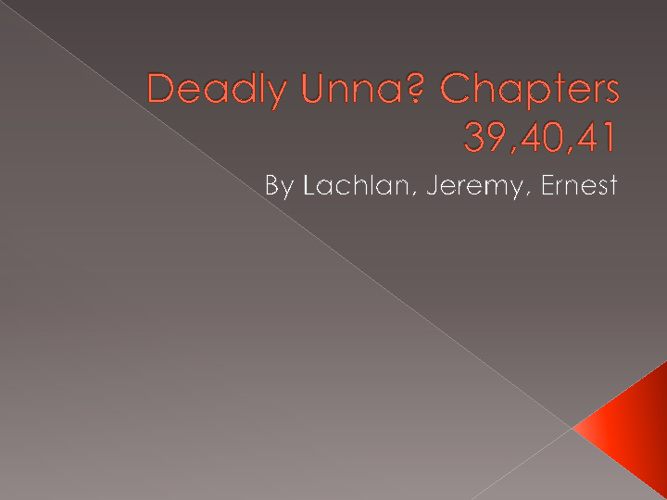 Deadly Unna Chapters