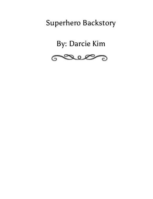 Superhero Backstory