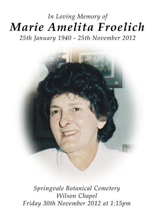 Marie Froelich