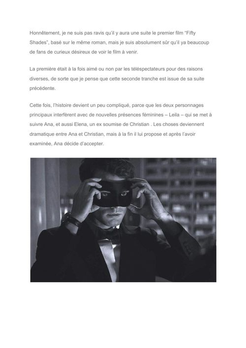 """[Fr] """"Fifty Shades of Grey"""" to be continued in 2017 with """"Fifty"""