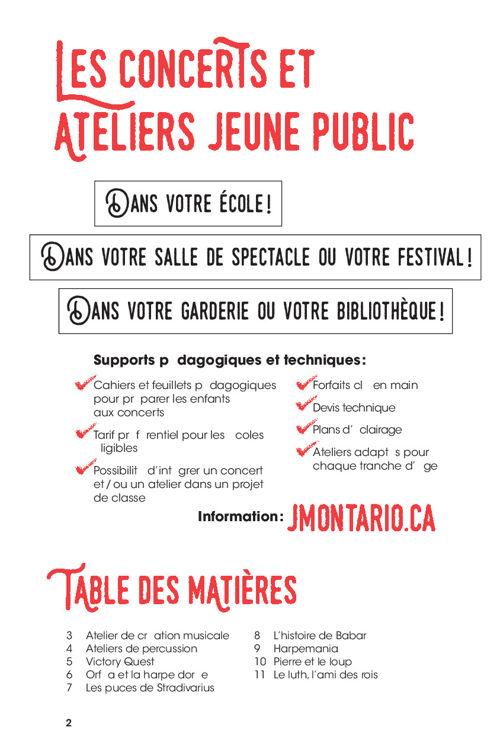 Concerts et Ateliers Jeune Public 2016-2017