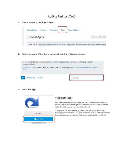 AddingRedirectTool-Test