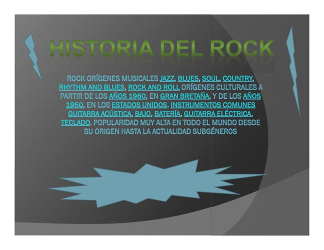 Rock Orígenes musicales Jazz, blues, soul(1)SADFsafd