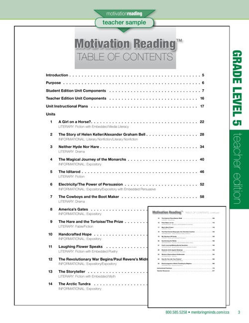 CCS Motivation Reading Level 5 TE