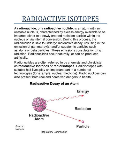 RADIOACTIVE ISOTOPES AND THEIR USES