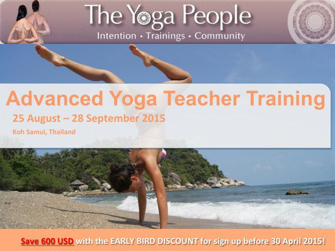 300 Hours Advanced Yoga Teacher Training - Koh Samui 2015