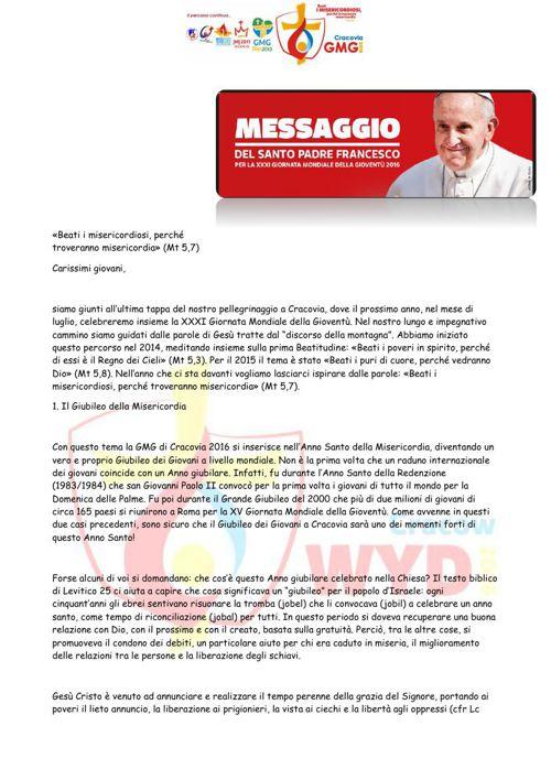 Messaggio del Santo Padre2
