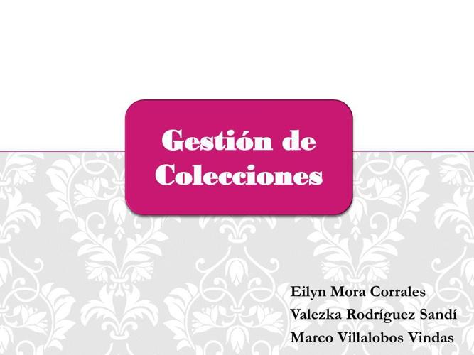 Gestión de colecciones
