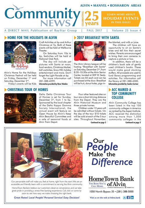 Alvin-Manvel-Rosharon Community News Volume 25 Issue 4