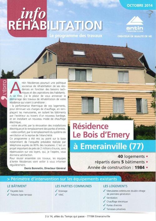 Info réhabilitation Emerainville