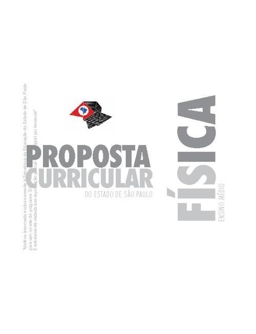 PROPOSTA CURRICULAR DE FÍSICA