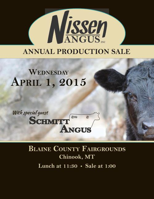 Nissen Angus Annual Production Sale - April 1, 2015.