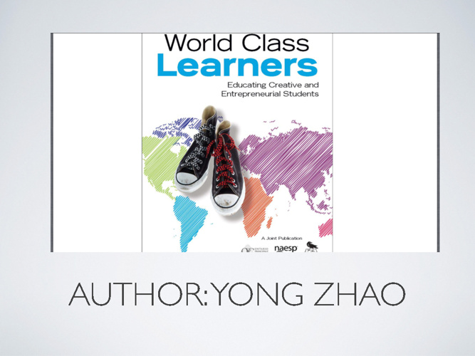 Notes From Yong Zhao