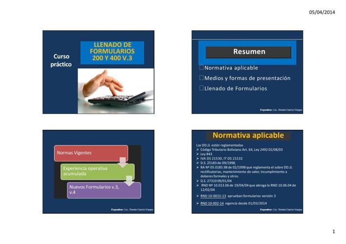 Presentación IVA-IT VERSIÓN 3 Lic. Renan García Vargas