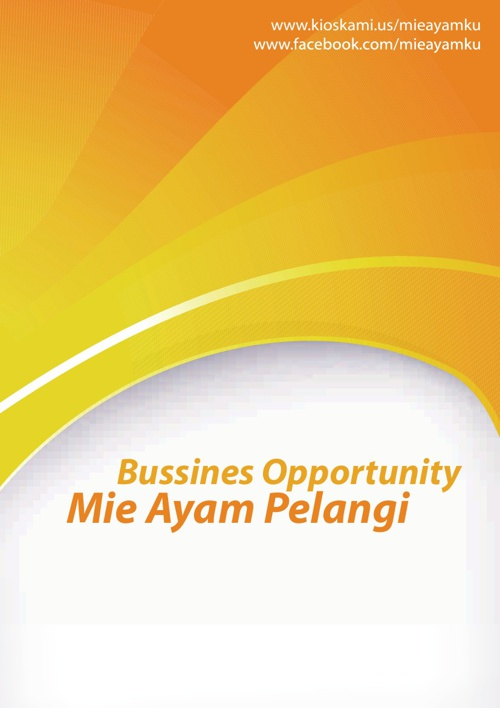 Bussines Opportunity Mie Ayam Pelangi