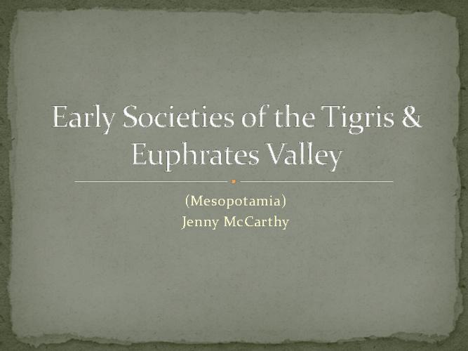 Tigris valley