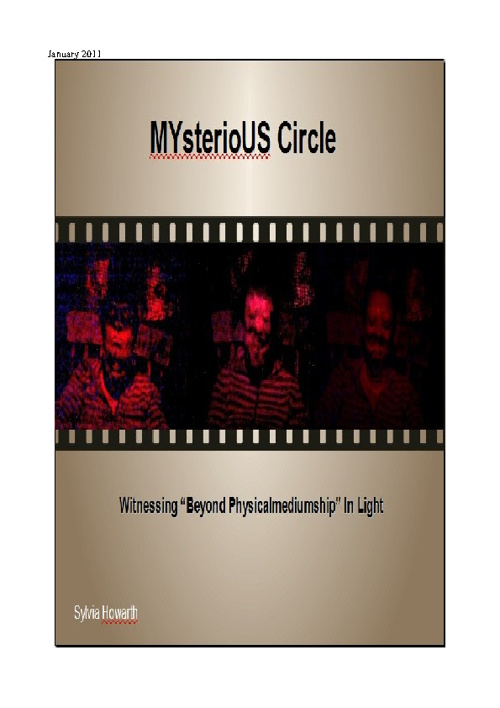 MYsterioUS Circle Jan 2011 Flip Book