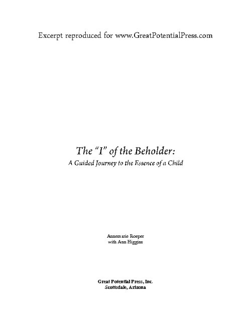 "The ""I"" of the Beholder (Excerpt)"