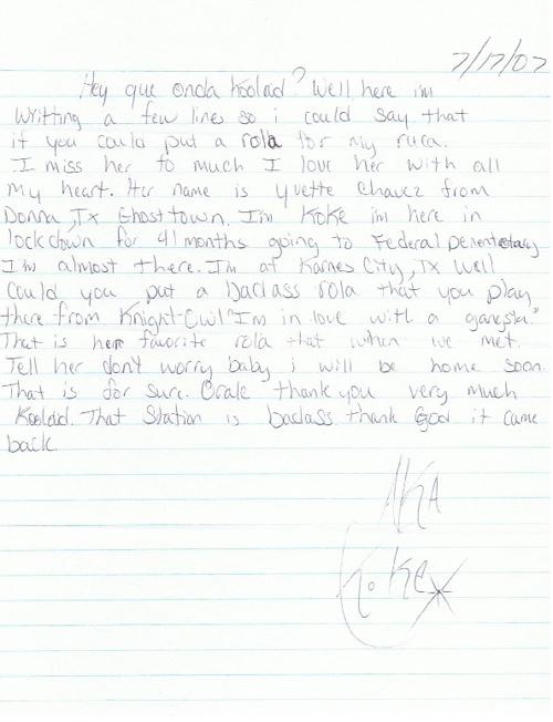 """Pocos Pero Locos """"Dedications From The Pen"""" Letters 2007: Vol. 4"""