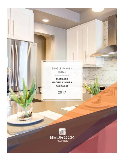 2017 Bedrock Single Family Homes Specification Comparisons