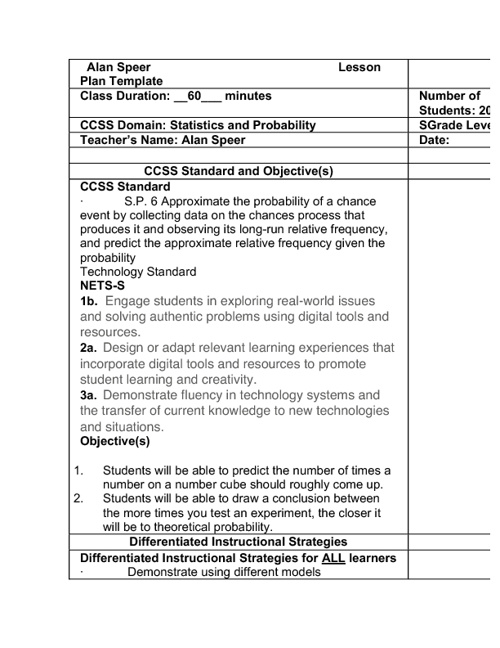 App in Classroom Final Lesson Plan